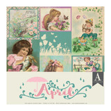 Authentique - Calendar Collection 12x12 3/Pkg - April (CAL-052)