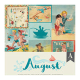Authentique - Calendar Collection 12x12 3/Pkg - August (CAL-056)