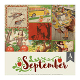 Authentique - Calendar Collection 12x12 3/Pkg -September (CAL-057)