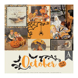 Authentique - Calendar Collection 12x12 3/Pkg -October (CAL-058)