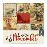 Authentique - Calendar Collection 12x12 3/Pkg -November (CAL-059)