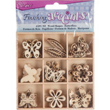 Darice - Flourish Wooden Pack - Butterflies - 45/pkg (WS2015 01)