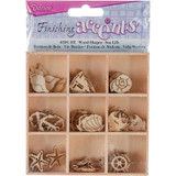 Darice - Flourish Wooden Pack - Sea Life - 45/pkg (WS2015 05)