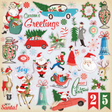 Carta Bella - 12x12 Sticker Sheet - A Very Merry Christmas (CBVMC72014)