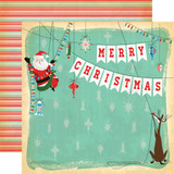 Carta Bella - A Very Merry Christmas 12x12 Cardstock - Merry Christmas (CBVMC72003)