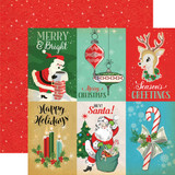 Carta Bella - A Very Merry Christmas 12x12 Cardstock - 4x6 Journaling Cards (CBVMC72005)
