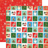 Carta Bella - A Very Merry Christmas 12x12 Cardstock - Christmastime Squares (CBVMC72012)