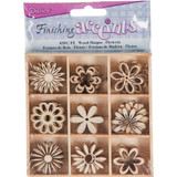 Darice - Flourish Wooden Pack - Flowers - 45/pkg (WS2015 - 04)