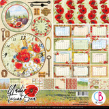 "Ciao Bella - 12""X12"" Double-Sided Patterns Pad 7/pkg - Under the Tuscan Sun (CBT032)"