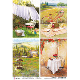 Ciao Bella - Rice Paper Sheet - Under the Tuscan Sun - Tuscan Cards (CBRP104)