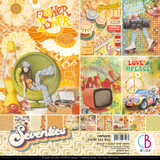 "Ciao Bella - 12""X12"" Double-Sided Paper Pack 11/pkg - The Seventies (CBPM030)"