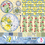 "Ciao Bella - 12""X12"" Double-Sided Patterns Pad 7/pkg - Sicilia (CBT033)"