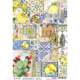 Ciao Bella - Decoupage Rice Paper Sheet - Sicilia - Ceramica di Caltagirone (CBRP097)