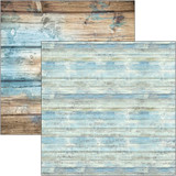 Ciao Bella - 12x12 Double-Sided Cardstock - Sound of Summer - Coastal Wood (CBSS112)