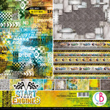 "Ciao Bella - 12""X12"" Double-Sided Patterns Pad 7/pkg - Start Your Engines (CBT031)"