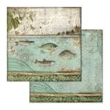 Stamperia - Double-Sided Cardstock 12x12 - Fish (SBB657)