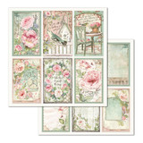 Stamperia - Double-Sided Cardstock 12x12 - House of Roses - Frames (SBB676)