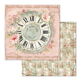 Stamperia - Double-Sided Cardstock 12x12 - House of Roses - Clock (SBB674)