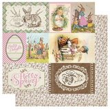 Authentique - Double Sided Cardstock 12x12- Cottontail - #7 Cut Aparts (CTN007)