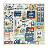 Authentique - Element Sticker Sheet 12x12 - Voyage (VOY013)