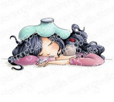 Stamping Bella - Cling Stamps - Under The Weather Mochi Girl ( EB901)