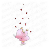 Stamping Bella - Cling Stamps - Bundle Girl With Falling Hearts (EB914)