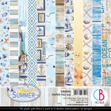 Ciao Bella - Double-Sided Paper Collection 6x6 24/Pkg - Sound of Summer (CBQ034)