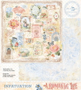 Blue Fern Studios - Double-Sided Paper 12x12- A Romantic Life - Infatuation (ARL- IN)