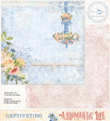 Blue Fern Studios - Double-Sided Paper 12x12- A Romantic Life - Captivating (ARL- CA)