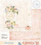 Blue Fern Studios - Double-Sided Paper 12x12- A Romantic Life - Devoted (ARL- DE)