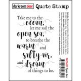 """Darkroom Door - Quote Cling Stamp 3.3""""X2.3"""" - Open Sea (DDQS037)"""