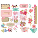 Julie Nutting - Prima - Chipboard Stickers 25/Pkg - Butterfly Bliss (913137)