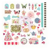 Julie Nutting - Prima - Cardstock Ephemera 49/Pkg - Butterfly Bliss (913144)