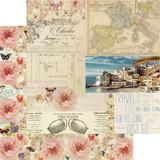 Prima Frank Garcia - Double sided 12x12 Paper w/Foil Accents - Capri - Punta Del Monaco (995911)