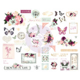 Prima - Cardstock Chipboard Stickers 45/Pkg - Pretty Mosaic (642211)