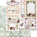 Prima - Double-Sided Cardstock 12x12 - Pretty Mosaic - Beautiful Life (PRMO12 49337)