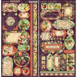 Graphic 45 - Cardstock Stickers 2/Pkg 6x12 - Fruit & Flora (G4502003)
