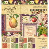 Graphic 45 - 8x8 Double-Sided Paper Pad 24/Pkg - Fruit & Flora (G4501999)