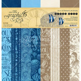 Graphic 45 - Patterns and Solids Pad 12x12 - Ocean Blue (G4502017)