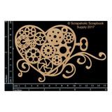 Scrapaholics - Laser Cut Chipboard - Steampunk Heart (S50640)