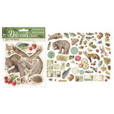 Stamperia - Die-Cut Chippies - 66/pcs - Forest (DFLDC02)