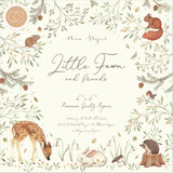 Craft Consortium - Double Sided Paper Pack 6x6 - Little Fawn and Friends (PPAD008B)