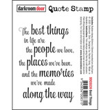 "Darkroom Door - Quote Cling Stamp 3.3""X2.3"" - Best Things (DDQS039)"