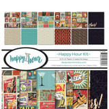 """Reminisce - Double-Sided Collection Kit 12""""X12""""- Happy Hour (HAH200)"""