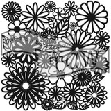 The Crafters Workshop - 6x6 Template Stencil - Mini Flower Frenzy (TCW 157s)