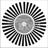 The Crafters Workshop - 6x6 Template Stencil - Mini Sunburst (TCW 166s)