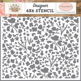 Carta Bella - Stencil 6x6 - Farmhouse Market - Garden Bloom (AR113033)