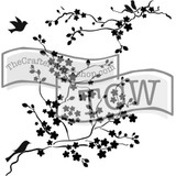 The Crafters Workshop - 6x6 Template Stencil - Mini Cherry Blossoms (TCW 177s)