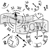 The Crafters Workshop - 6x6 Template Stencil - Mini Time Travel (TCW 201s)