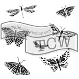 The Crafters Workshop - 6x6 Template Stencil - Mini Mariposas (TCW 260s)